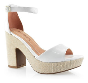 9cf697b3f Sandalias Salto Alto Preto E Branco Ramarim - Sapatos com o Melhores Preços  no Mercado Livre Brasil