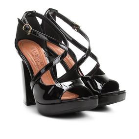 4c1ab3d6cb Sandalia Meia Pata Preta Ramarim - Sapatos no Mercado Livre Brasil