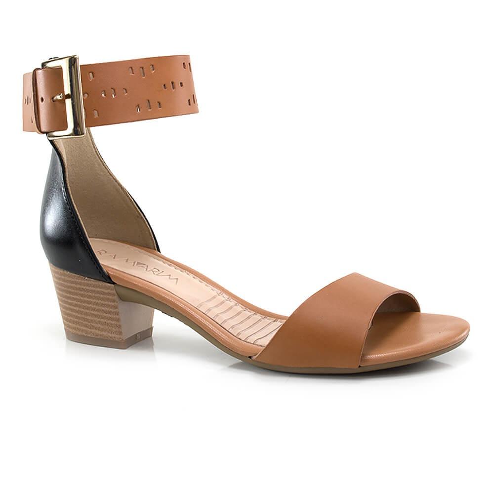 0f47cbfc0 sandália ramarim salto baixo com fivela - vanda calçados. Carregando zoom.