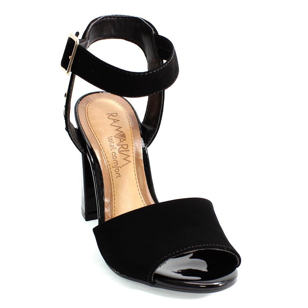 a45041ac56 sandália ramarim salto grosso preta feminina. Carregando zoom.