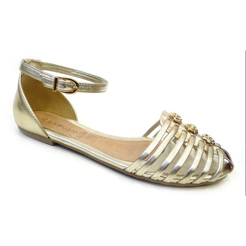0e17ab6f9 Sandalia Rasteira 163203 Ramarim (31) - Ouro Light - R$ 34,98 em ...