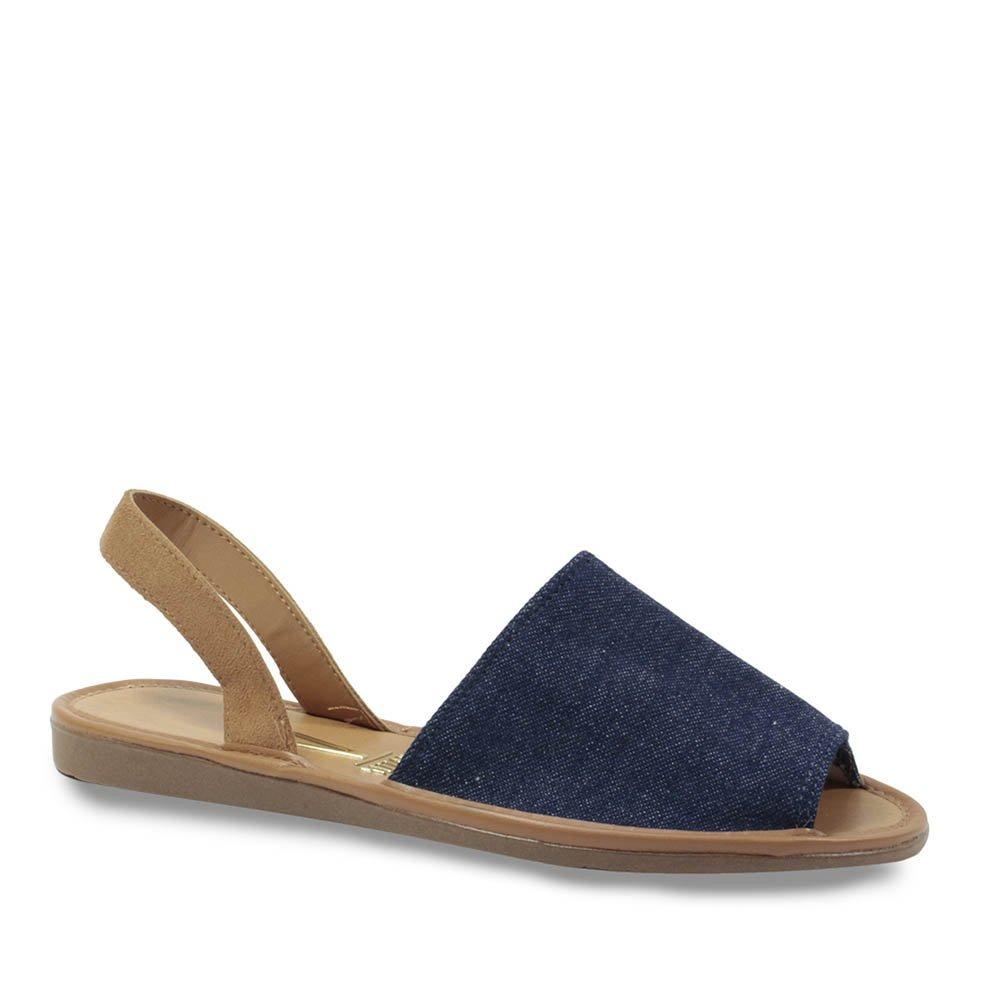 677aed6141 sandália rasteira avarca feminino vizzano jeans 6280. Carregando zoom.