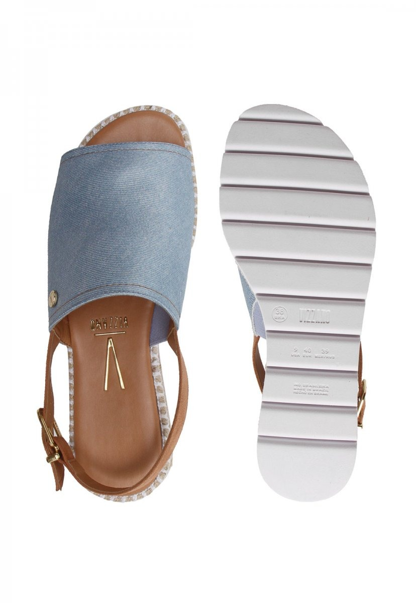 93f3ef8f1 sandália rasteira avarca vizzano flatform. Carregando zoom.