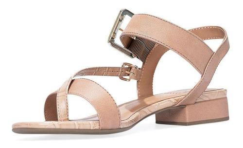 sandália rasteira bebecê feminina croco salto bloco conforto