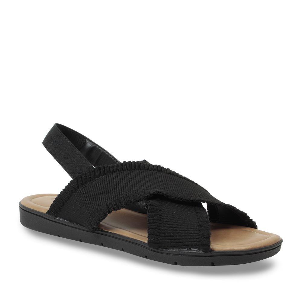 46df3e1e8 sandália rasteira comfortflex feminina com elástico preto. Carregando zoom.