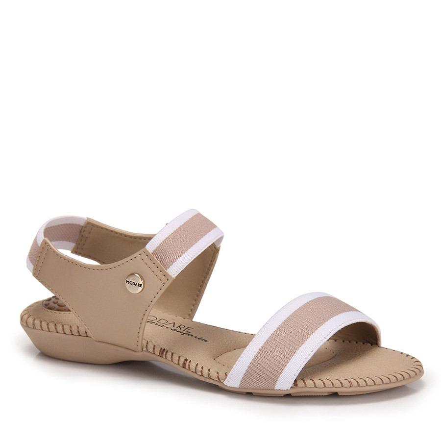 23e4f718ce sandália rasteira conforto modare elástico - nude. Carregando zoom.