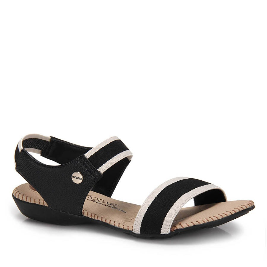 9abeda6430 sandália rasteira conforto modare elástico - preto. Carregando zoom.