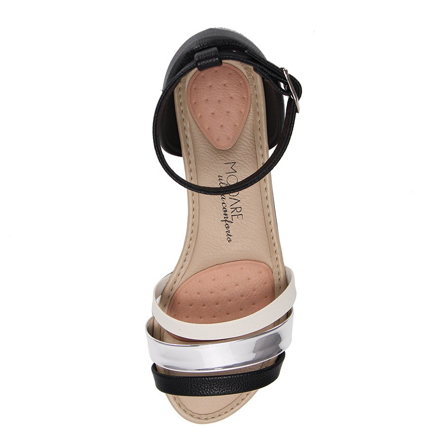 7739f94092 sandália rasteira conforto modare - preto. Carregando zoom.