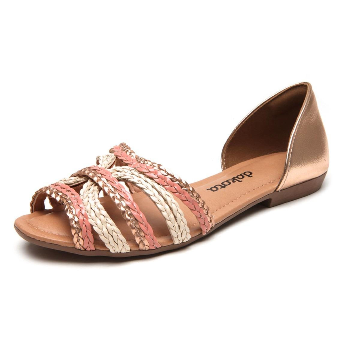 83307c203 sandália rasteira dakota tiras tressê rosê nude z1911. Carregando zoom.