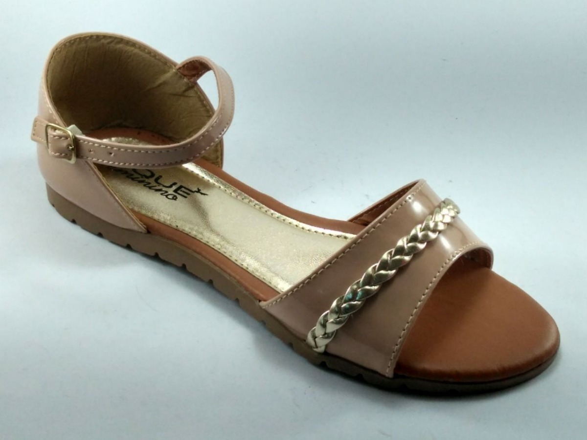 a243c77e5c sandália rasteira feminina baixa verniz toque feminino. Carregando zoom.