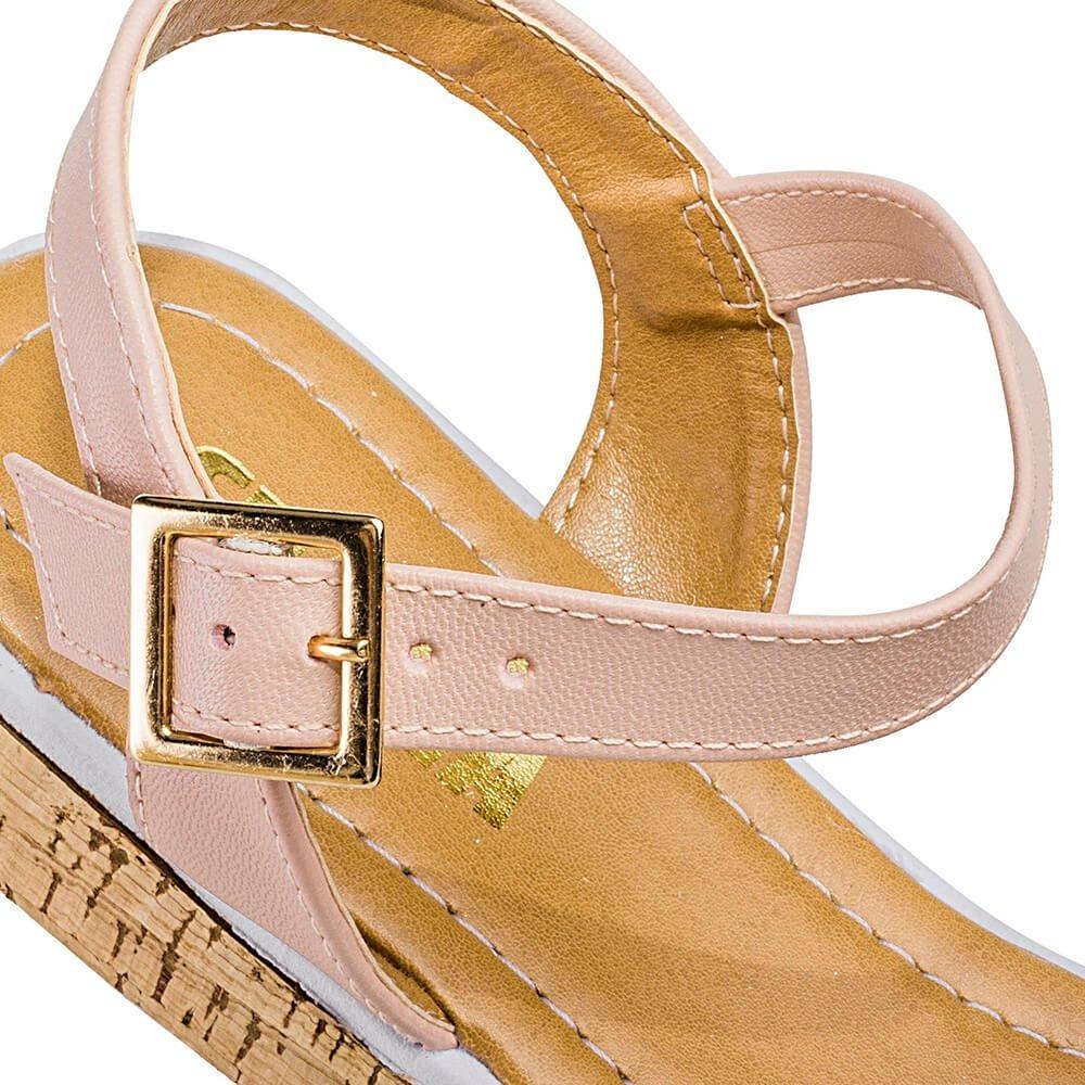 c53dcab92 sandália rasteira feminina com tira larga sua cia blush. Carregando zoom.