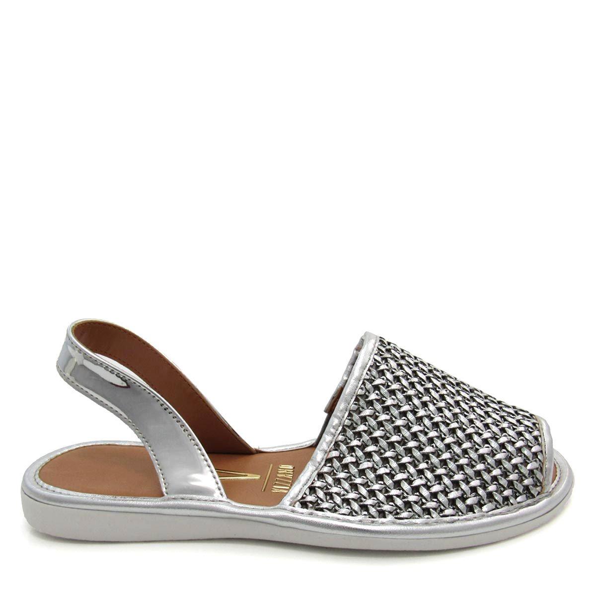 19a8f96d78 sandália rasteira feminina vizzano 6280130 avarca metalizada. Carregando  zoom.