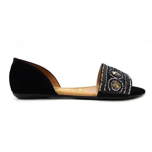 209802c41d Sandália rasteira feminina vizzano camurça preto jpg 500x500 Vizzano  sandalia rasteira feminina