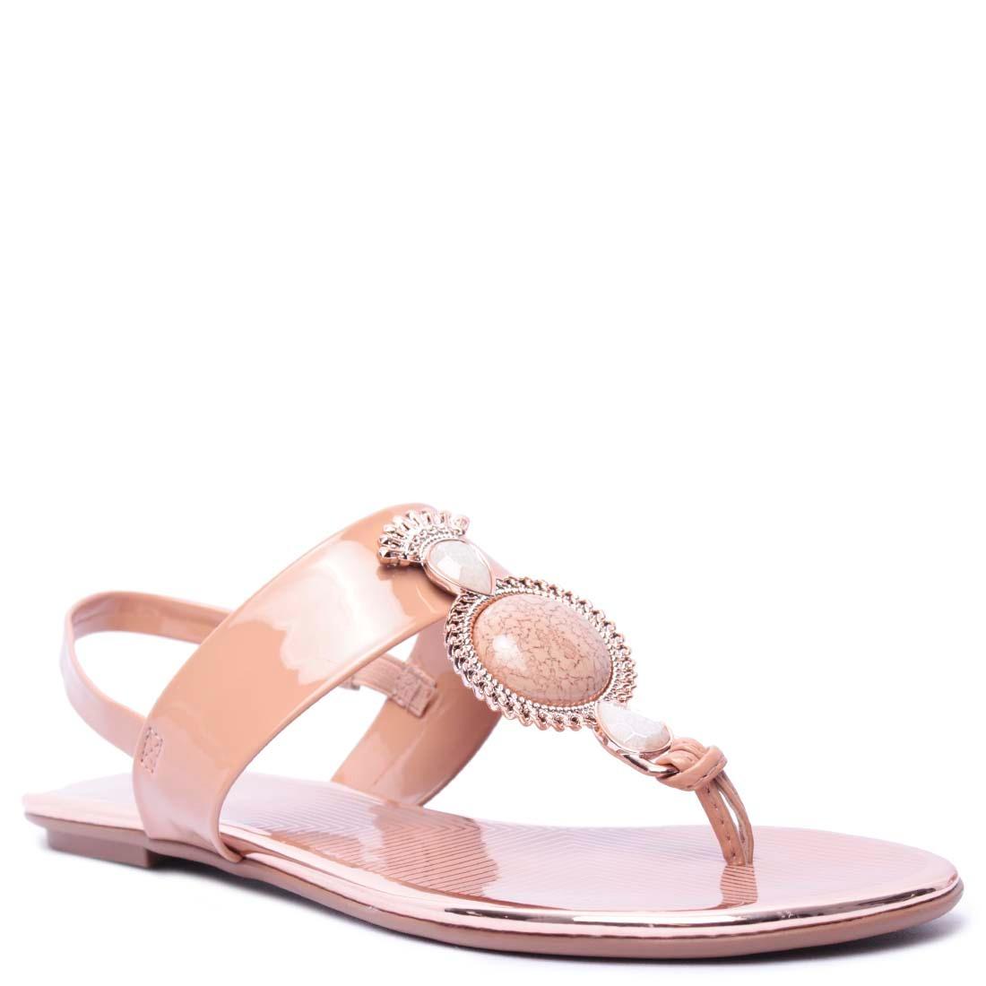 4ac97ba333 sandália rasteira feminino beira rio verniz. Carregando zoom.