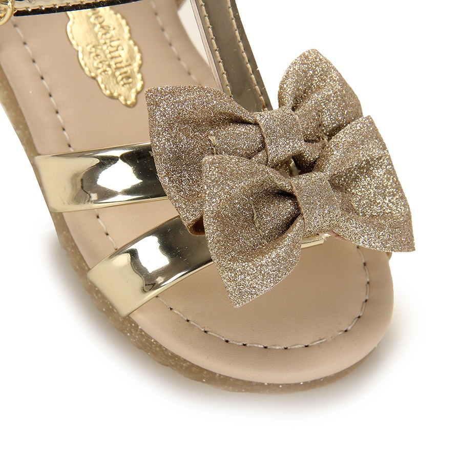 39334f66b sandália rasteira infantil molekinha - 17 ao 25 - dourado. Carregando zoom.