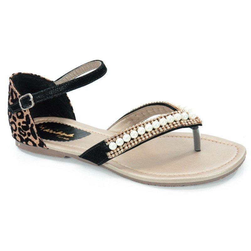 b9dc3eb253 sandália rasteira numeração especial mariana preto onça - 02. Carregando  zoom.