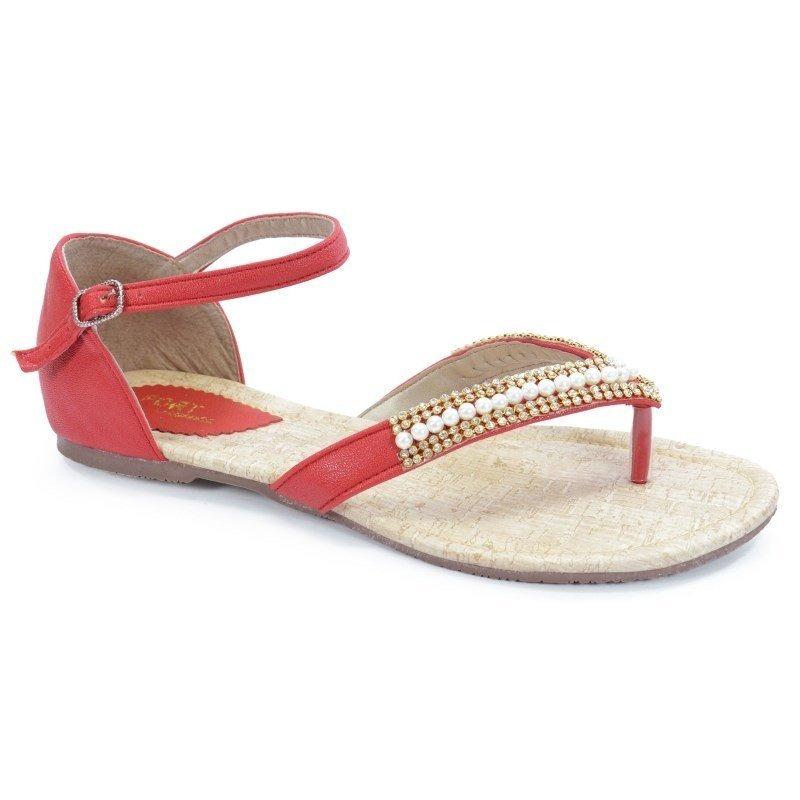 555545e566 sandália rasteira numeração especial mariana vermelho - 028-. Carregando  zoom.