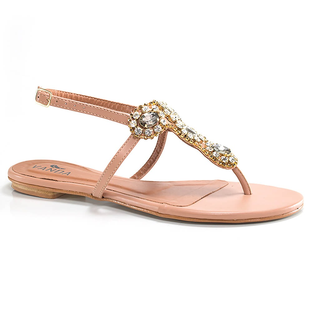 ce9e2ef5cd sandália rasteira - numeração especial - vanda calçados. Carregando zoom.