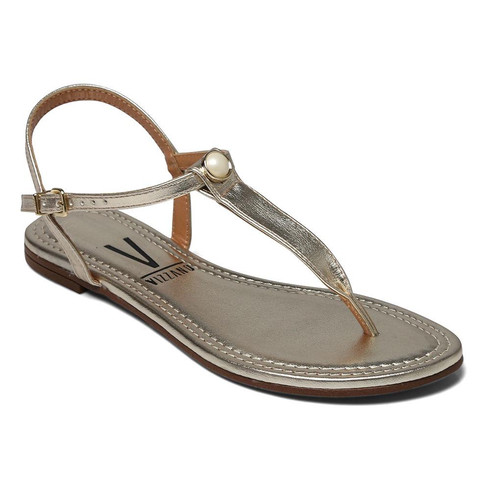 e08917ec0e sandália rasteira vizzano metalizada glamour dourada 6235.16. Carregando  zoom.