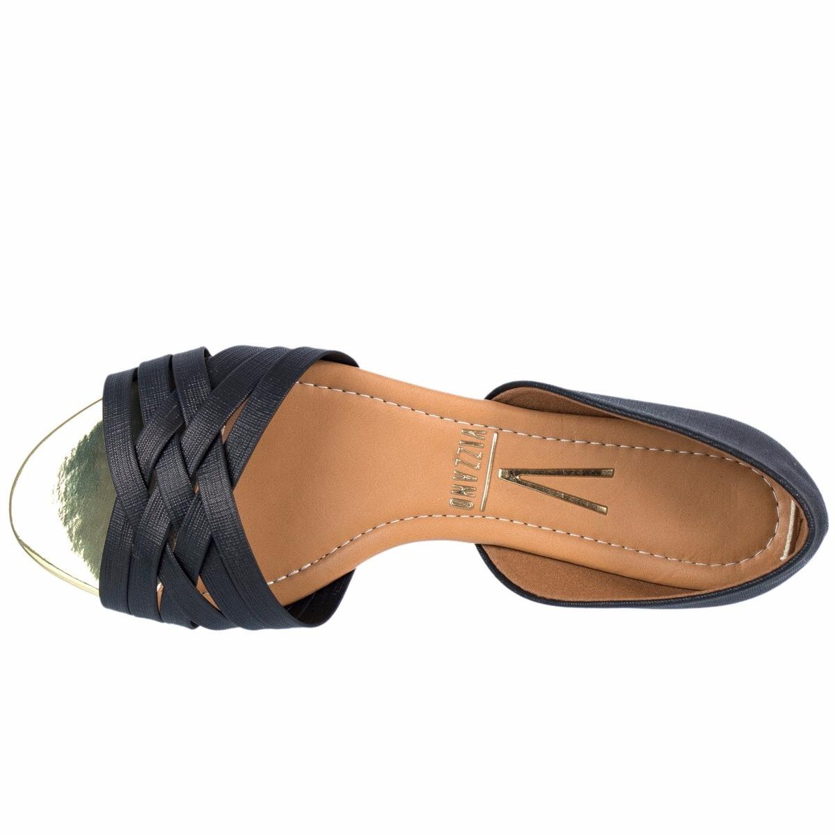 dec93ae8ab sandália rasteira vizzano napa metal feminina 1834.103. Carregando zoom.