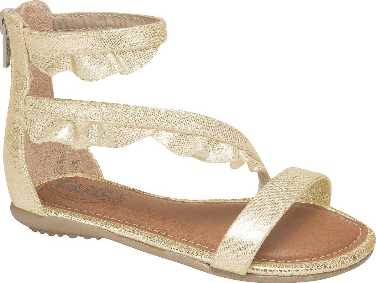 6aa13ad26 sandalia rasteiras feminina babado ano novo dourada infantil. Carregando  zoom.