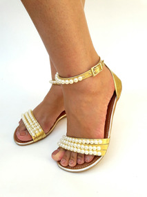 90d04b6f27 Lindas Sandalias Rasteirinhas Mariah - Calçados