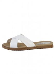 60184f59e7 Rasteirinha Com Rabicho Beira Rio Dourada Cruzada - Sapatos para Feminino  Branco com o Melhores Preços no Mercado Livre Brasil