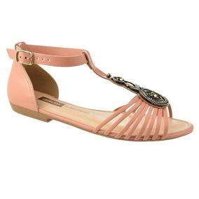 eaeff5292 Sandalia Dakota Tira Bege Rosa Feminino Sandalias - Sapatos com o ...