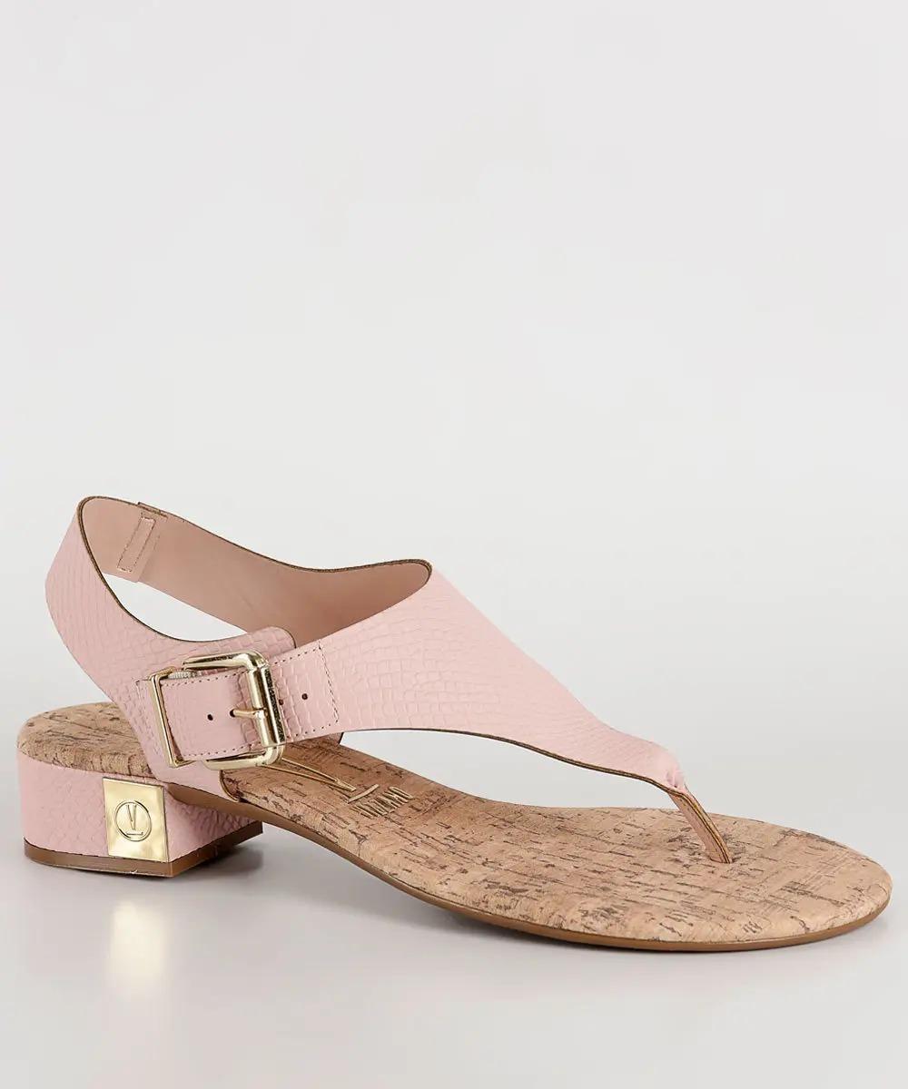 1d1175d4d8 sandália rasteirinha feminina vizzano 6390102 rosa croco. Carregando zoom.
