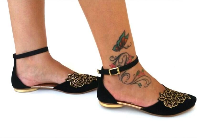 1afe60770d sandália rasteirinha linda bico fino salto baixo barata 307. Carregando  zoom.