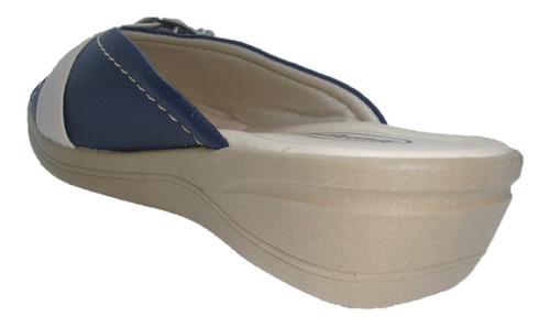 sandália rasteirinha marinho tamanco kiussaflex 257 oferta
