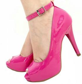 9d05c1c56a Sapato Meia Pata Peep Toe Fucsia (pink) Feminino - Sapatos no ...
