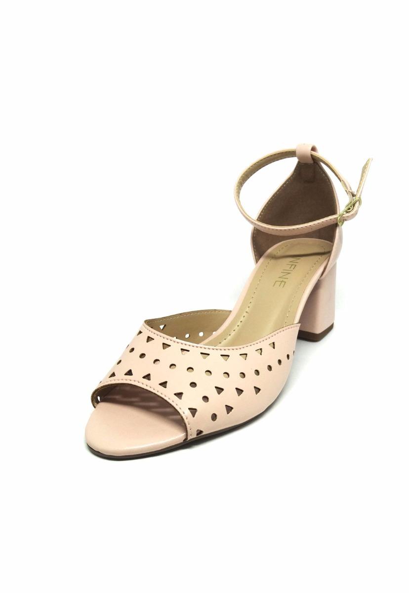 58d4bbfdef sandália rosa salto grosso quadrado promoção. Carregando zoom.