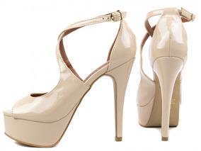 dbb040d3c Salto Alto Fino De Plataforma - Sapatos no Mercado Livre Brasil
