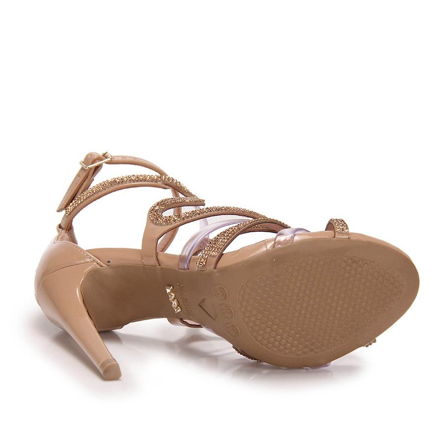 3ef16e28e sandália salto alto lara hotfix - nude. Carregando zoom.
