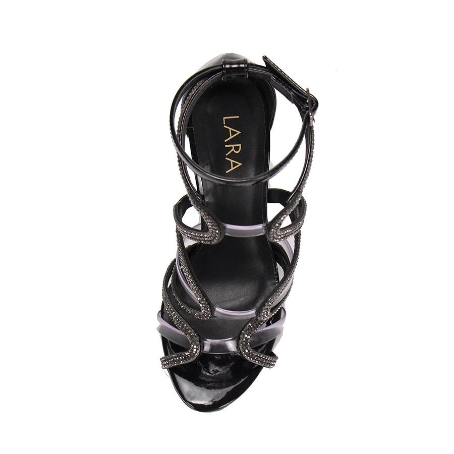 05064afd8 sandália salto alto lara hotfix - preto. Carregando zoom.