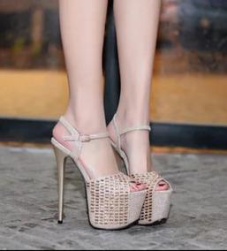 a2e186c5a Sandalia Salto Alto Importada Luxo Feminino Sandalias - Calçados, Roupas e  Bolsas com o Melhores Preços no Mercado Livre Brasil