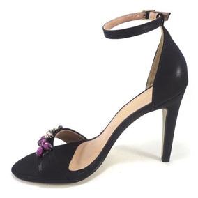 5743cf4958 Sandália De Salto Com Pedrarias - Sapatos no Mercado Livre Brasil