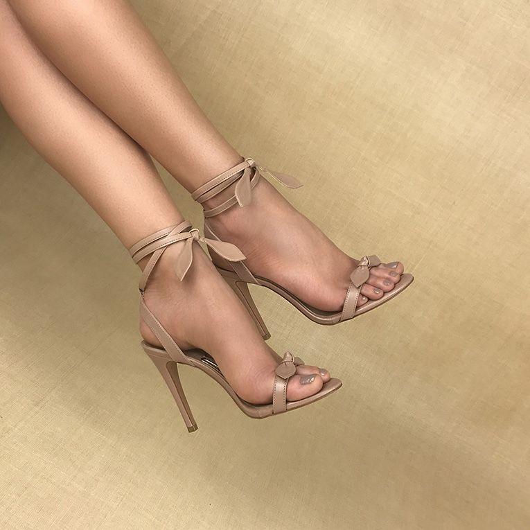 5e1dca97622d Sandália Salto Alto Veneto Nude Uza Shoes - R$ 174,10 em Mercado Livre