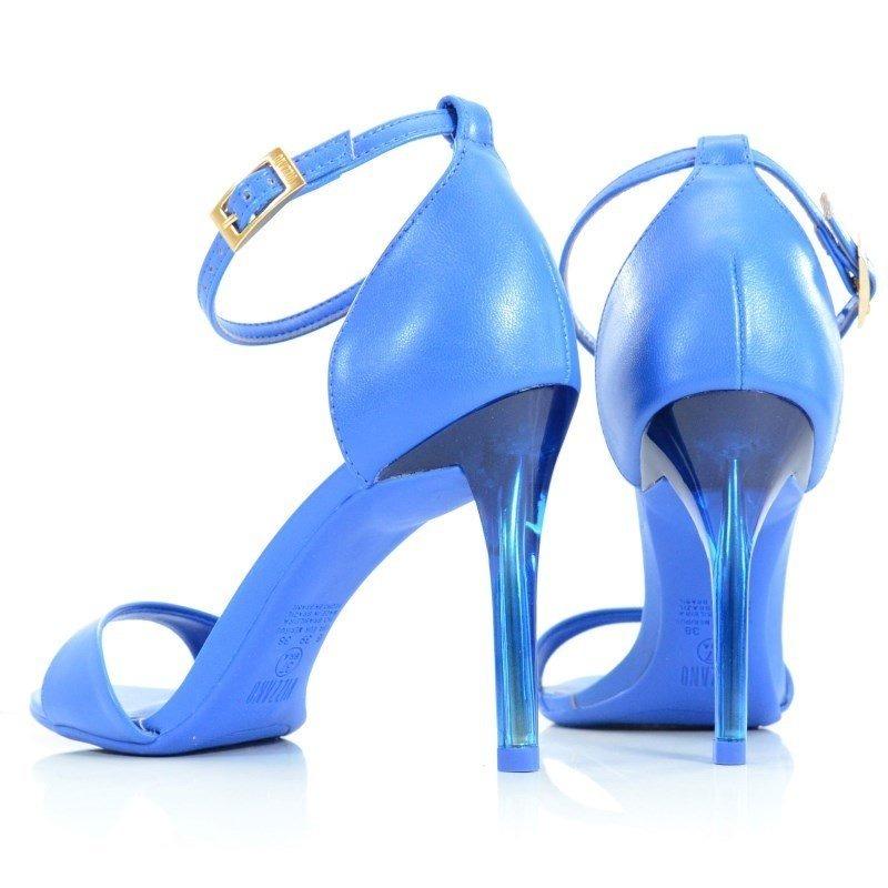 adfd91bc50 sandália salto alto vizzano napa azul neon - 6306206. Carregando zoom.
