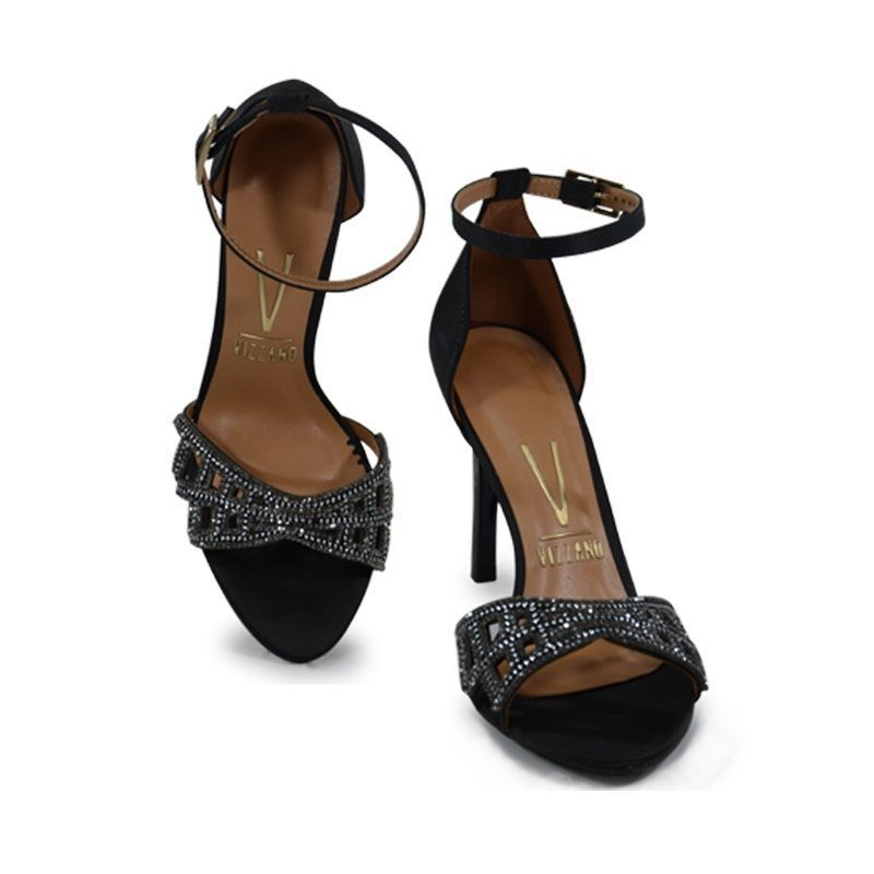 df58a361cd sandália salto alto vizzano preto - 6306112. Carregando zoom.