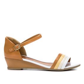 0049e3e74 Sandalia Feminina Ramarim Rasteira - Sapatos para Feminino Marrom-claro com  o Melhores Preços no Mercado Livre Brasil