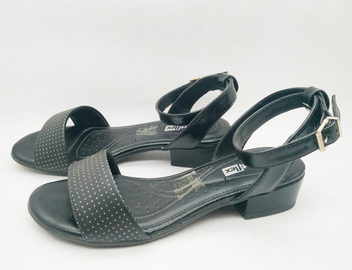 6bf05b4a8 sandália salto baixo comfortflex feminina preta oferta. Carregando zoom.