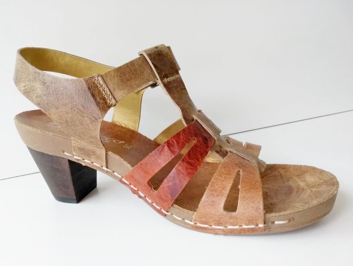 03ff71712 sandália salto baixo feminino couro andacco. Carregando zoom.