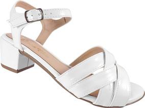 8b10db9933 Sandalias De Salto Grosso Baixa Branca - Sapatos no Mercado Livre Brasil