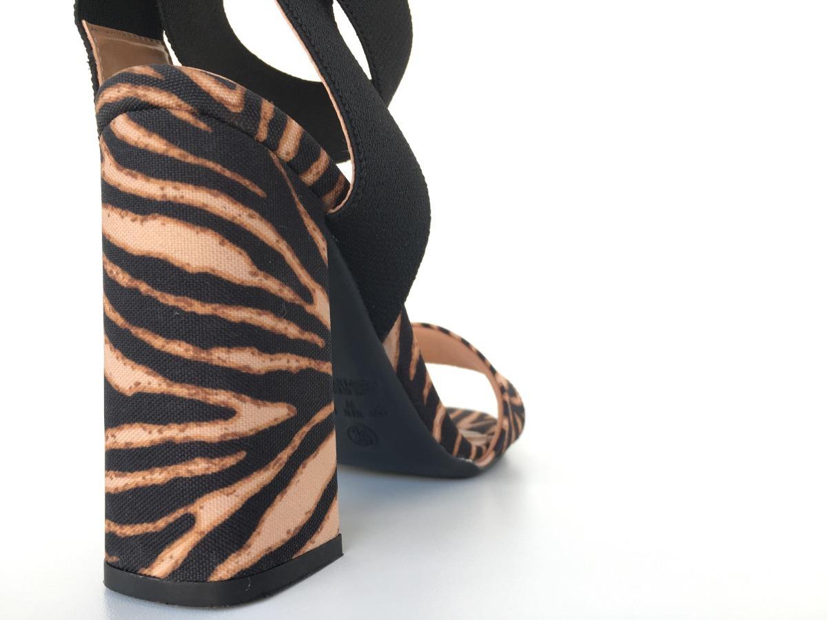 2ee841d70 sandália salto bloco amarração feminina animalprint 2651220. Carregando  zoom.