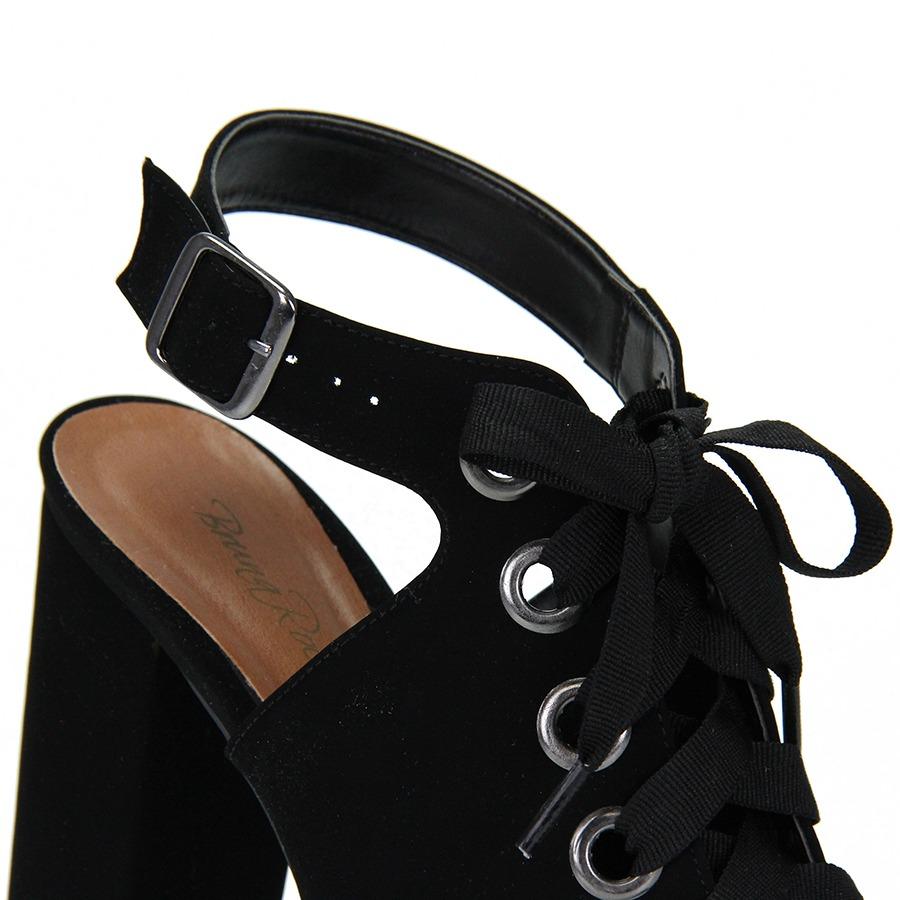 831230e782 sandália salto bruna rocha cadarço - preto. Carregando zoom.