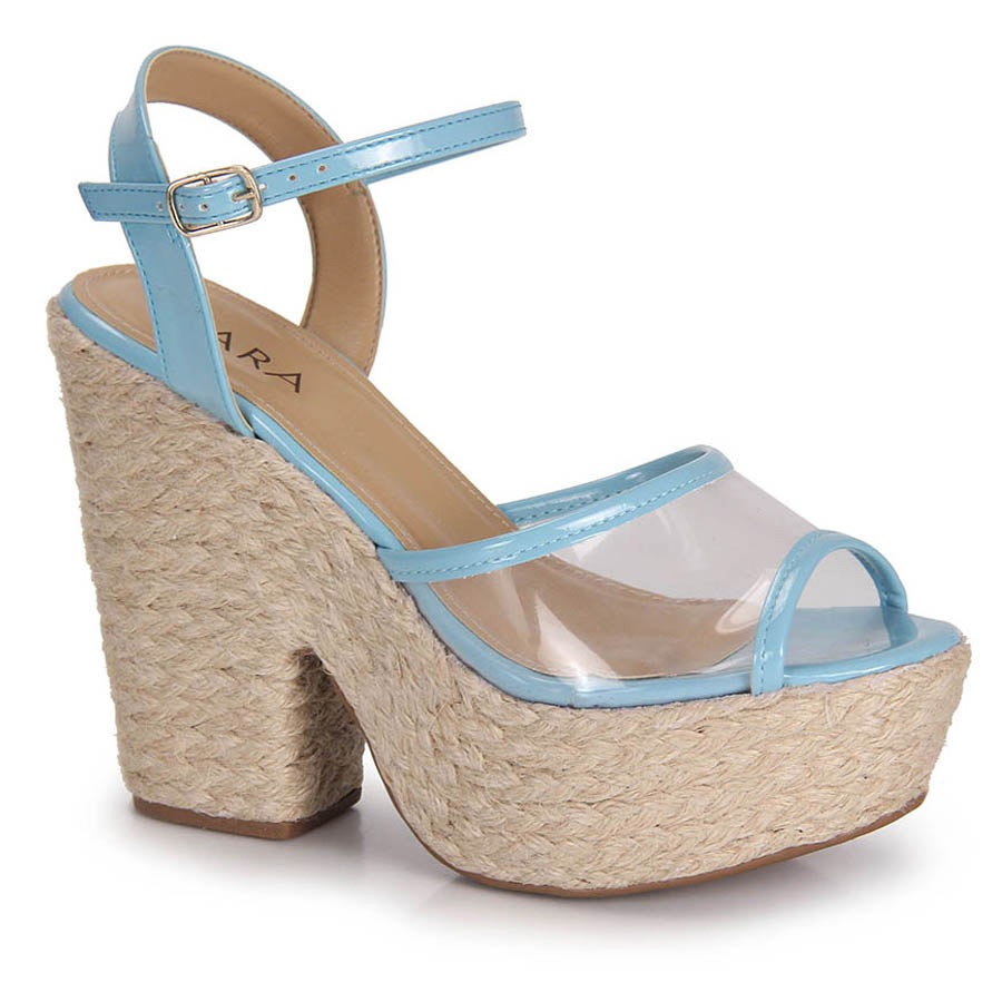 c7858f311 Sandália Salto Espadrille Feminina Lara - Azul - R$ 79,99 em Mercado ...