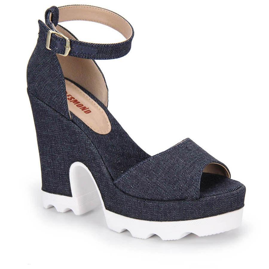 245c16d31a Sandália Salto Feminina Desmond - Jeans - R$ 139,99 em Mercado Livre