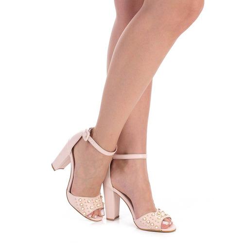 329ca40d9 Sandália Salto Feminina Lara - Nude - R$ 149,99 em Mercado Livre
